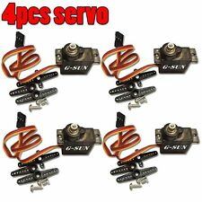 4pcs Metal Gear 9g Micro RC Servo for Align Trex 450 RC Helicopter Airplane F