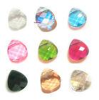 Swarovski Crystal Flat Briolette Pendant Element 6012 Many Color & Size