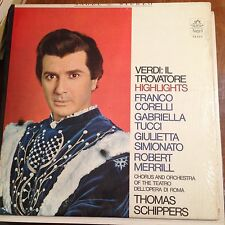 VERDI- IL TROVATORE- HIGHLIGHTS- W. BOOKLET- SHRINK LP
