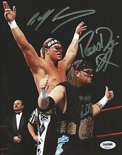 DX The New Age Outlaws Billy Gunn & Road Dogg Signed WWE 8x10 Photo PSA/DNA COA