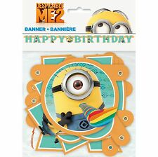 75in Despicable Me 2 Minions Birthday Party Cutout Jointed Letter Banner