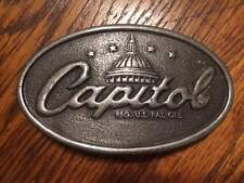 VINTAGE CAPITOL RECORDS MUSIC BELT BUCKLE + AWESOME!!!!