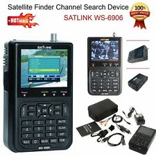 "3.5 ""WS-6906 Satellite SIGNAL FINDER LCD SATLINK DVB-S FTA data Digital Meter IT"
