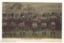 EARLY PRE WAR UNCIVILIZED NATIVES WEDDING PARTY POSTCARD