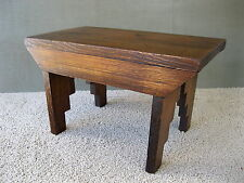 "Vintage Foot Stool, 16"" x 9"" x 9-1/2"" Tall, Primitive Wood Footstool Bench"