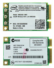 INTEL WIRELESS WIFI LINK 4965AGN CARD A/B/G/N DELL SONY ACER ASUS TOSHIBA G71