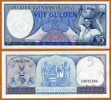 Suriname / Surinam, 5 Gulden 1963, Pick 120 (120b) Gem UNC