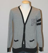 PULL AND BEAR - Ash Grey College Preppy Style Cardigan Sweater Men's M