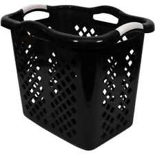 New Home Logic 2-Bushel Lamper Storage Laundry Basket Black Free Shipping