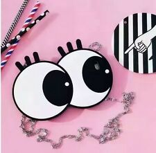 3D Cute Cartoon Eyes Silicone Purse W Straps Case For iPhone 7+ Christmas Gift