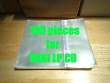 Resealable Outer Plastic Sleeves for MINI LP CDs 100