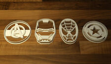 MARVEL Cookie Cutter Set, Spiderman, Capitan America, Iron Man Avengers Set