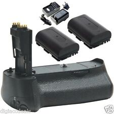 Canon BG-E11 Replacement  Grip fits EOS 5D Mark III + 2 Batteries + Charger