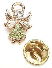 Angel-Drops Birthstone Guardian Angel Pin August Peridot