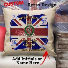 Personalizzato Royal Esercito Medico Corps Militare Vintage Cuscino Tela