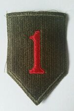 Patch  US 1st  infantry div. Big red one Normandie type WWII - années 50