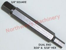"""JC316 Dual Hex Key Wrench Insert 3/16"""" and 5/16"""" for Refrigeration 4in1 Wrenches"""