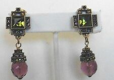 HEIDI DAUS Multi Color Swarovski Element Clip Earrings