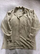 Luxurious JAMES MEADE 100% Silk Ladies Shirt/ Blouse-Size L (chest 42in) Cream