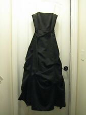 Womens Black David's Bridal Formal Strapless Prom Dress Gown Size 8
