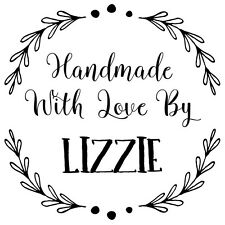 Personalised Laser Rubber Stamp - Handmade By: Leaf Wreath