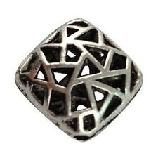 10pcs Tibetan Silver Hollow Square Beads T12563