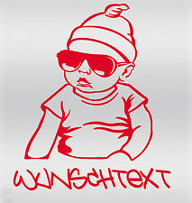 Aufkleber Wunschname on Board Sticker - Auto Hangover Baby Kind Autoaufkleber