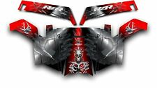 Polaris RZR 900 XP UTV Wrap Graphics Decal Kit 2011-2014 Turbo Charged Red