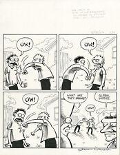 SHANNON WHEELER Too Much Coffee Man ORIGINAL COMIC ART