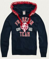 Franklin & Marshall team Tiger Hooded sweatshirt with removable hood trim M Navy
