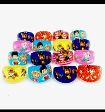 12 X PAW PATROL Rings Birthday Party Bag Fillers,Gifts Chase Rubble,Rider Everes