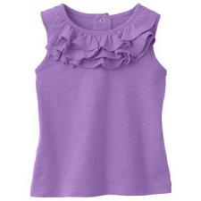 SFK Jumping Beans Slubbed Ruffle Tank - Wisteria Bloom