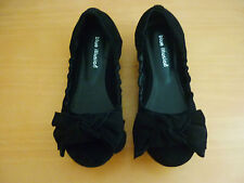 "BLUE ILLUSION ""GERMAIN"" BLACK SUEDE LEATHER BALLET FLATS SHOES - SIZE 39 - NWOT"