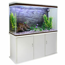 Peces tanque Acuario Tropical Marine complete set up blanco del gabinete de 300 litros 4ft