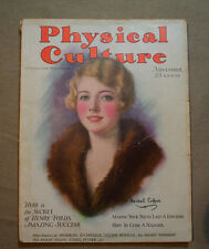 vtg old PHYSICAL CULTURE Magazine fitness exercise body building fashion 1928