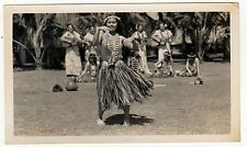 VINTAGE SOUTH PACIFIC Photograph PHOTO Woman FEMALE Girl PIN UP Dancing NATIVE
