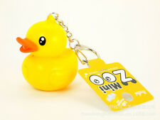 CUTE LITTLE YELLOW RUBBER DUCK FLASHLIGHT LED NIGHT LIGHT KEYCHAIN