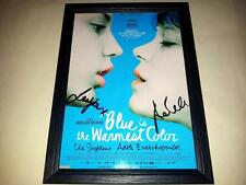 "BLUE IS THE WARMEST COLOR SIGNED & FRAMED 12""X8"" POSTER ADELE EXARCHOPOULOS"