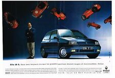 PUBLICITE ADVERTISING 1992    RENAULT  CLIO 16 S ( 2 pages)