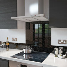 Black Cosmos Speckle Glass Splashback In 90cm X 65cm