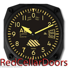 New TRINTEC VINTAGE ALTIMETER Wall Clock Aeroplane Altitude Aviation Flight Dial