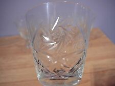 5 PINWHEEL CRISS CROSS FAN CUT CRYSTAL SHERRY WINE GLASSES 5oz