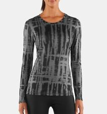UNDER Armour WOMENS Shirt XL Camo GRAY Multicolor FITTED Heat GEAR Size SZ