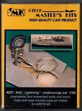 """CMK CZECH MASTER'S KITS 4021 - BAC """"LIGHTNING"""" - UNDERCARRIGE SET 1/48 RESIN KIT"""