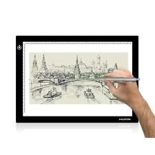 "HUION 17.7"" L4S A4 Thin Translucent Drawing Board Led Light Pad Copy Tracing Box"