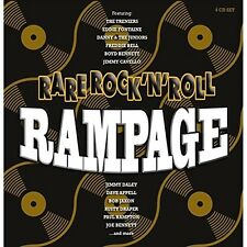 RARE ROCK'N'ROLL RAMPAGE - THE SPARKLETONES, PAUL HAMPTON, BOB JAXON 4 CD NEU