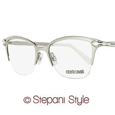 Roberto Cavalli Semi-Rimless Eyeglasses RC861 Diadema 024 Size: 50mm Palladium/W