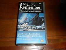 A Night To Remember + Making Of - Titanic VHS/PAL Video Set