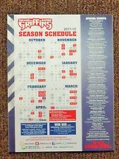 2011-12 Grand Rapids Griffins AHL Detroit Red Wings team issued clingz schedule