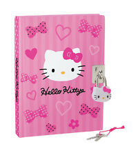 Sanrio Hello Kitty Pink Bow Locking Diary